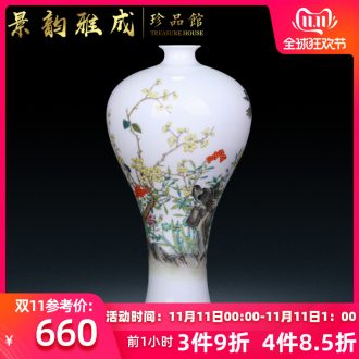 Jingdezhen ceramic hand - made charactizing a new flower arrangement sitting room adornment of Chinese style household porcelain vase furnishing articles
