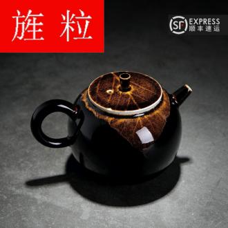 Continuous grain up jingdezhen konoha built green was light ceramic kung fu tea boiled the teapot tea set manually