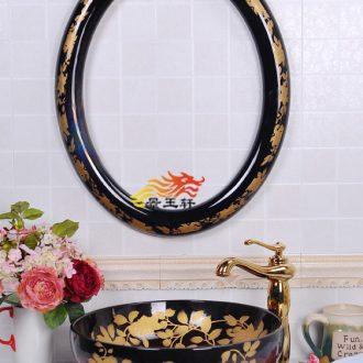 The new oval frame dream flower hibiscus many choose ceramic bowl lavatory art basin series