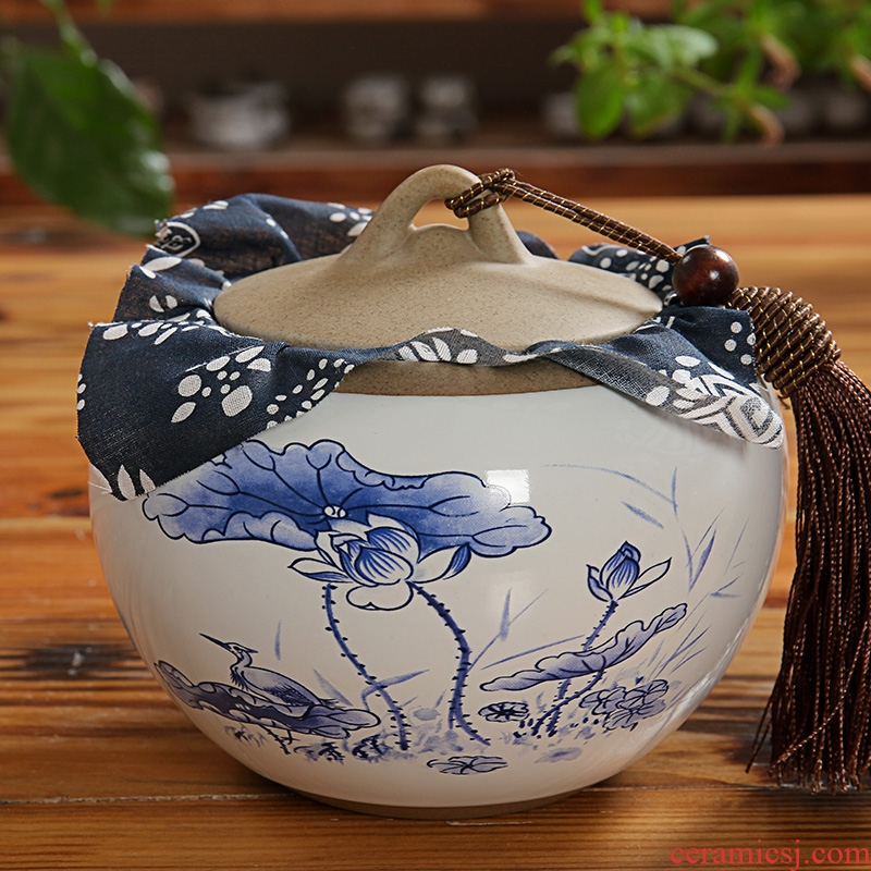 East west pot of ceramic tea caddy fixings small seal pot puer tea cylinder coarse pottery POTS pottery and porcelain persimmon tank 1