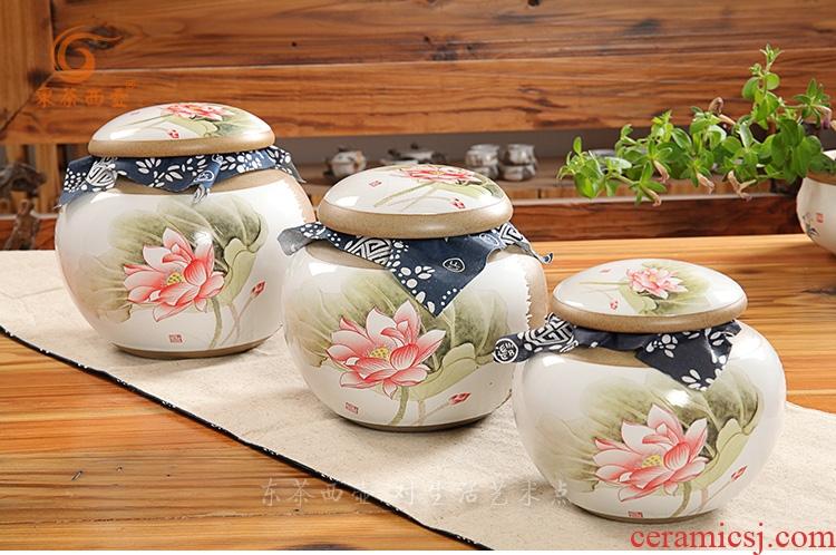 陶与瓷茶叶罐-荷香四溢圆罐茶叶罐(新品)