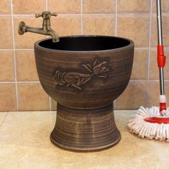 Jingdezhen ceramic body conjoined fragrant mop mop pool barrels of mop bucket mop pool pool sewage pool