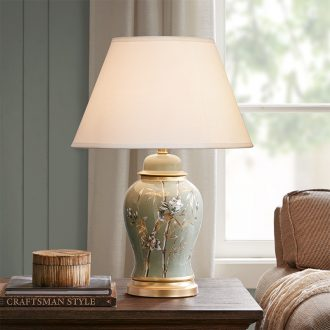 HarborHouse bedroom desk lamp bedside lamp hand - made ceramic flower adornment lamps and lanterns is Allston