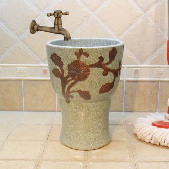 Jingdezhen ceramic art mop pool 30 cm of water - saving one crack of carve patterns or designs on woodwork mop pool the mop bucket