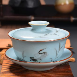 Kung fu tea tureen jingdezhen hand - made your up only three tureen slicing your porcelain worship to use your up tureen specials