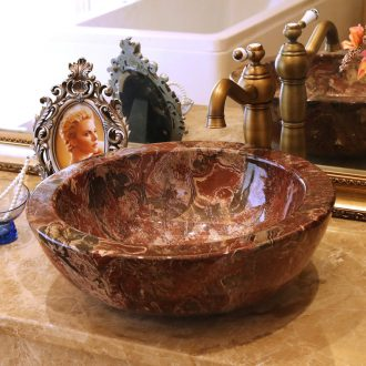 Jingdezhen ceramic stage basin to the lavatory basin art lavabo edge thickening 625 imitation marble 2 wide