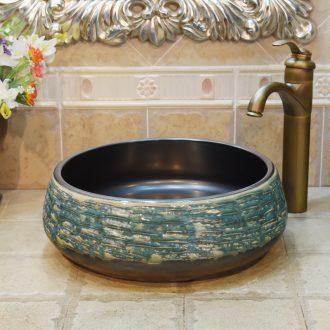 Jingdezhen ceramic lavatory basin basin art on the sink basin basin admiralty variable blue and green