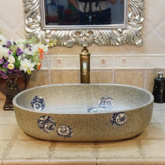Jingdezhen ceramic lavatory basin basin sink art on elliptic restoring ancient ways beast POTS birdbath