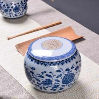 Jingdezhen porcelain tea pot ceramic seal save sect pot pu - erh tea medium size candy store content box