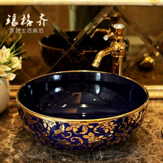 The package mail on bonsai, ceramic lavabo that defend bath lavatory basin, art basin season blue gold rattan aviary