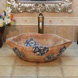 Jingdezhen porcelain set type lavatory basin basin sink art on lip obing mei beast basin