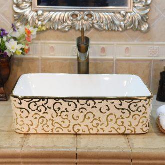 Jingdezhen ceramic lavatory basin basin art on the sink basin square up phnom penh uncaria birdbath