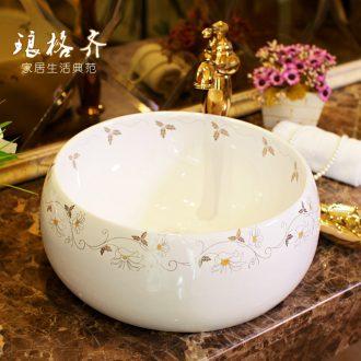 The package mail on bonsai, ceramic lavabo that defend bath lavatory basin, art basin waist drum gardenia bloom