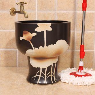 Jingdezhen ceramic art mop pool water - saving conjoined mop pool pool sewage pool under the mop bucket