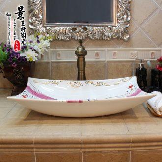 Jingdezhen ceramic new quadrangle ribbon the sink basin stage basin, art basin sinks