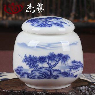 Small ceramic pu - erh tea tieguanyin tea pot size seal pot tin as cans new mini gift box