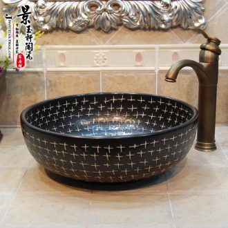 Jingdezhen ceramic art basin basin of the basin that wash a face ceramic sanitary ware art night sky of stars