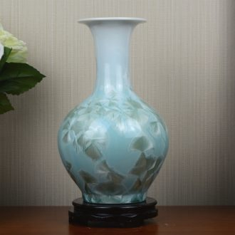 Jingdezhen crystalline glaze ceramic vase dried flowers flower arrangement sitting room European - style table creative household soft adornment is placed