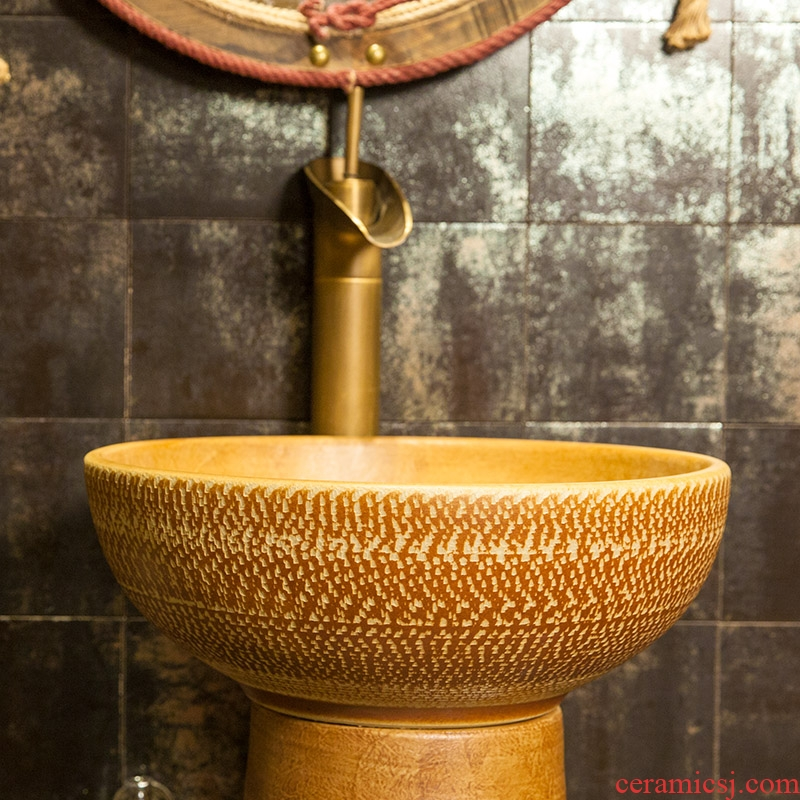 M beautiful balcony toilet ceramic basin to split the stage the lavatory basin that wash a face to wash your hands of excess