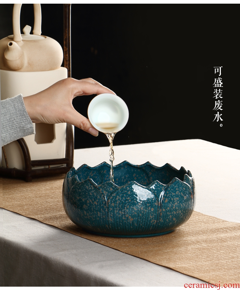 Ultimately responds water to build coarse after getting extra large tea wash your ceramic cup writing brush washer dross barrels of water to wash the tea sets tea water jar