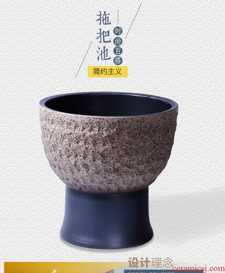 Jingdezhen ceramic balcony is suing retro hand - carved archaize mop pool toilet size mop pool