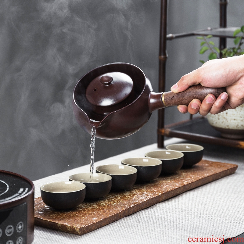 Bin 's home cooked this teapot tea exchanger with the ceramics Japanese black tea pu - erh tea teapot contracted electrothermal electric TaoLu suits for