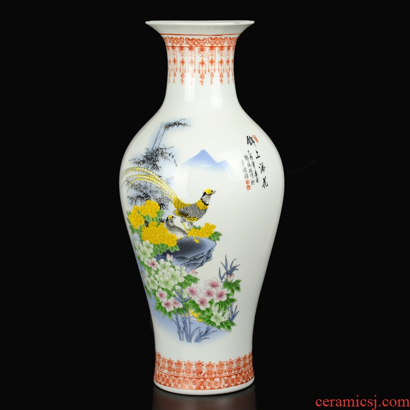 Jingdezhen ceramic vases, I and contracted sitting room place adornment of TV bar face, large flower arrangement