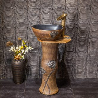 The Small basin of wash one vertical integrated basin ceramic column type washs a face basin bathroom column column vertical floor type