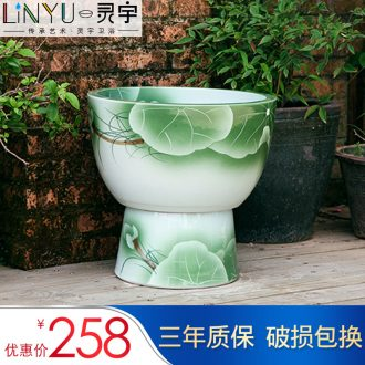 Ling yu jingdezhen art mop pool large ceramic mop pool is suing one Chinese wind pool table of type restoring ancient ways