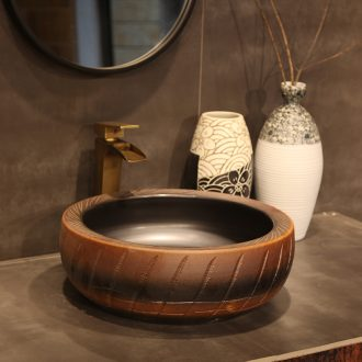Ling yu basin of jingdezhen ceramic art on the stage art basin basin sink indoor its curve of the basin that wash a face