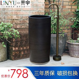 Ling yu, the column to use the lavatory basin toilet lavabo art basin ceramic one column column combination of 51
