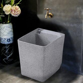 Ling yu emerald ash grain mop pool household square mop pool balcony basin bathroom ceramic mop bucket bath