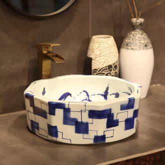Spirit yuxin product of jingdezhen ceramic basin, art basin sinks lavabo octagon 21 of the basin that wash a face