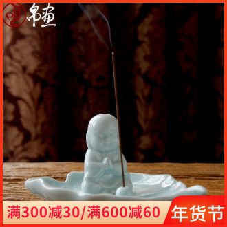 Incense inserted joss stick for zen Buddhism in the tea house furnishing articles ceramic and manual fragrant Incense leaves home decoration ideas