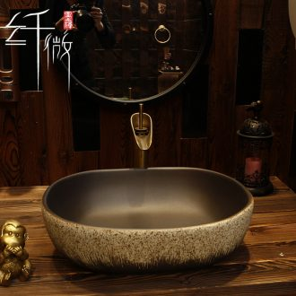 Nordic ceramic lavabo lavatory basin stage basin of the oval art for wash face basin imitation of new Chinese style restoring ancient ways