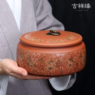 Violet arenaceous caddy fixings in large storage tanks puer tea pot ceramic seal bulk tea urn general household receives