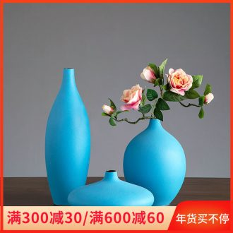 Morandi color furnishing articles of jingdezhen ceramic vase sitting room European - style originality dry flower arranging flowers small expressions using the home decoration