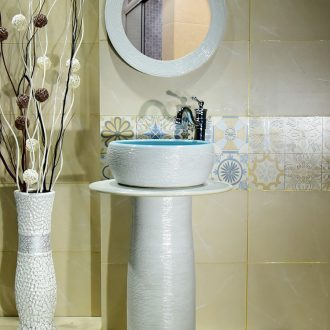 White sink basin stage one pillar lavabo ceramics lavatory floor pillar basin is suing