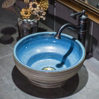 Ceramic art basin to antique table circular lavatory toilet lavabo, European - style for wash basin to wash face basin