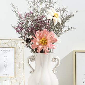 Nordic ins creative home sitting room ceramic vase furnishing articles wind dried flower arranging flowers I and contracted decoration decoration