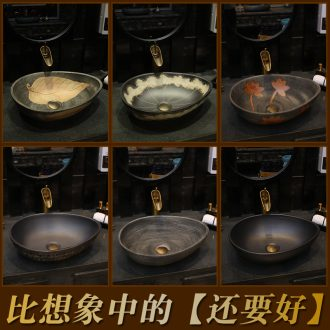 Square stage basin round art ceramic lavabo lavatory basin oval shaped the pool that wash a face on stage