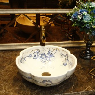 European stage basin alien art basin of Chinese style restoring ancient ways ceramic face basin bathroom sinks the pool that wash a face to wash your hands
