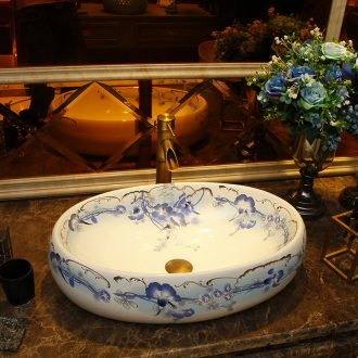Square table basin for wash gargle on the sink Europe type lavatory toilet stage basin ceramic art basin home
