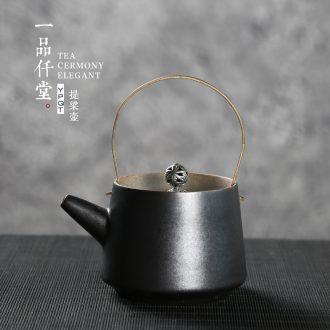 Yipin thousand hall make tea pot of household ceramic teapot retro creative girder single pot of filtering the teapot kung fu tea set