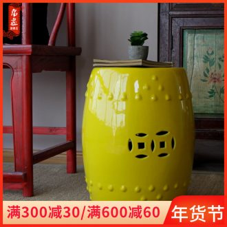 Jingdezhen ceramic furnishing articles drum who is a chair block who Chinese who archaize home courtyard sitting room adornment