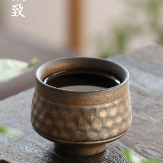 Ultimately responds tea the gold coarse after deterioration, large master cup single CPU ceramic cups sample tea cup tea set a single CPU