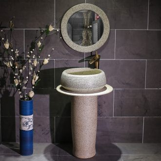 Ceramic column basin toilet lavabo balcony sink the pool that wash a face, simple console one - piece basin