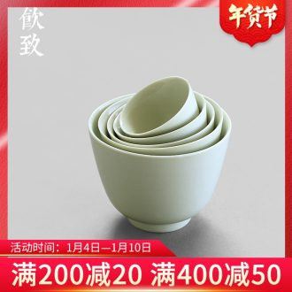 Ultimately responds to jingdezhen secret glaze small kung fu tea tea cup sample tea cup large personal master cup Japanese set of CPU