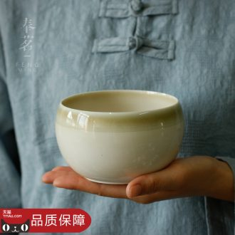Serve tea checking ceramic tea to wash to the Japanese style always doing mercifully hot bowl of tea tea barrel barrel built water plant ash