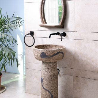 Sinks floor toilet one pillar sink basin ceramic art contracted ceramic basin of the post